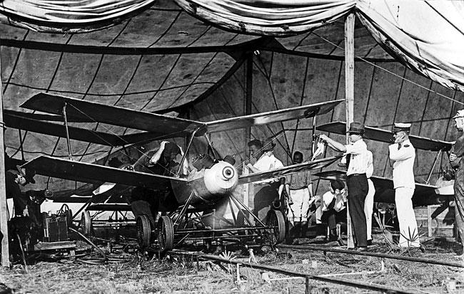 Octobre 1918 : première bombe volante